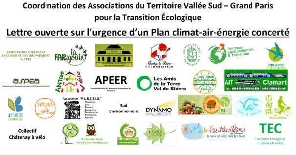 Lettre ouverte sur l'urgence d'un Plan climat-air-énergie concerté pour le Territoire Vallée Sud - Grand Paris